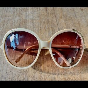 Chloè Sunglasses - Tan & Gold Detail